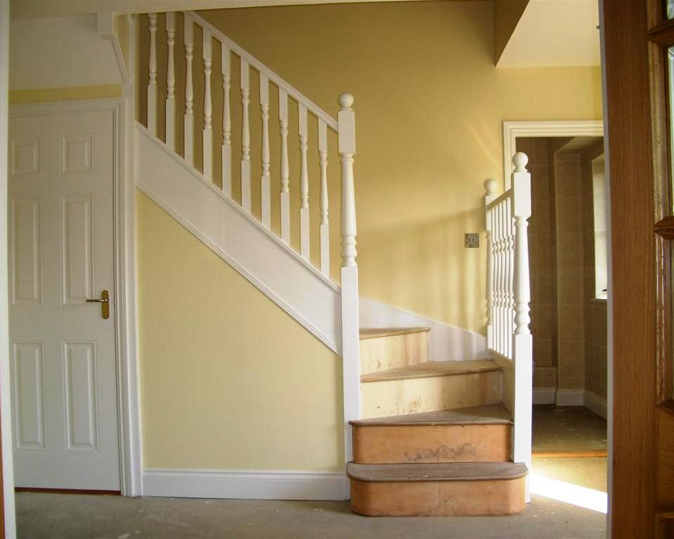 A Finished Painted Softwood Staircase