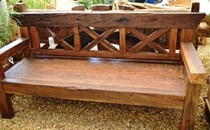 Wooden Railway Bench Lg