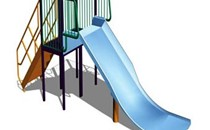 Wicksteed Playscapes Wide Slide Childrens Slide 1