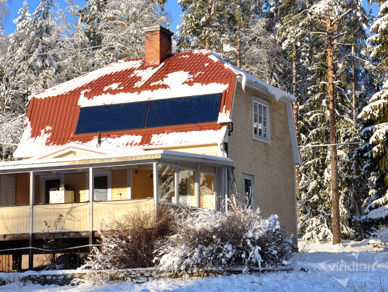 0151 Solar Panels In Snowy Scene Sweden 1